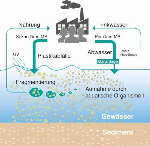 Mikroplastik in Wasserkreisläufen (© Fraunhofer UMSICHT)